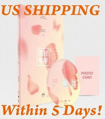 US SHIPPING BTS[In The Mood For Love Pt.2] Peach 4th Mini CD+PhotoBook+Card+Gift