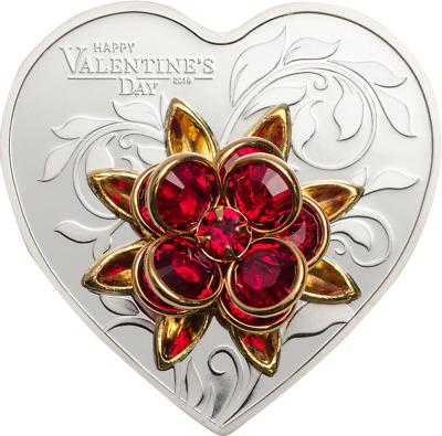 Cook Islands 2019 $5 Happy Valentine's Day 20 g .999 Proof Silver Coin PRE-SALE