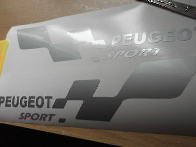 PEUGEOT sport  SMALL car decal..on 12 year vinyl .. x2
