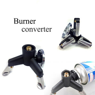 Hiking Camping Stove Burner Connector Propane Butane Gas Conversion Head Adaptor