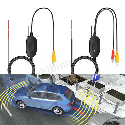 12V 2.4GHz Wireless Transmitter Receiver Car Reverse Rear View Camera Monitor
