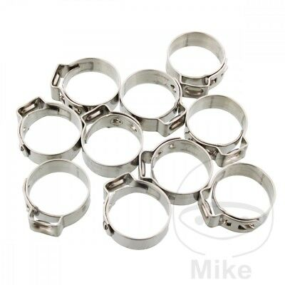 JMP Band Clamp 16.0MM Width 7MM Stainless Steel x10pcs