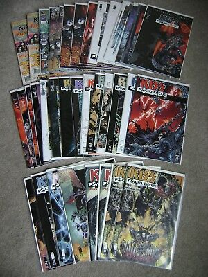 Lot Of 36 Kiss Nation First Collector's Psycho Circus 1 - 29 & 31 + Extras Lots