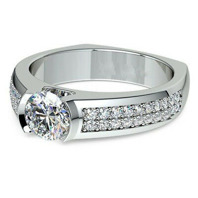 Certified 2.55Ct White Round Diamond Forever Anniversary Ring In 14KT White Gold
