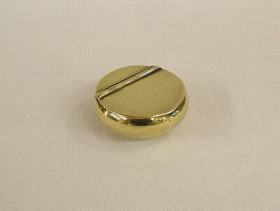 C1890 A HEAVY & TACTILE ANTIQUE VICTORIAN BRASS MINERS TOBACCO OR SNUFF BOX vgc