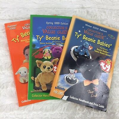 Set of 3 Beanie babies collector's price guide books 1999 2000 spring summer