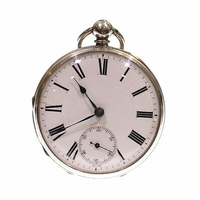 1870 Open Face Pocket Watch Silver Fusee Lever