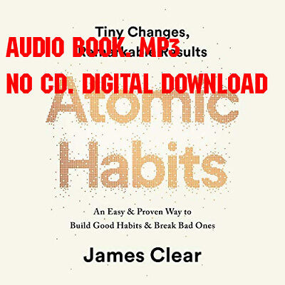 Atomic Habits by James Clear - MP3 Audio format audiobook + FREE AUDIO BOOK