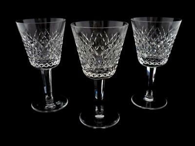 Waterford - Alana - 3 Claret Wine Glasses / Goblets - 5 7/8""