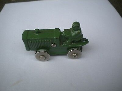 Vintage 1930s Cast Iron Toy Tractor Excellent Condition Great Green Paint