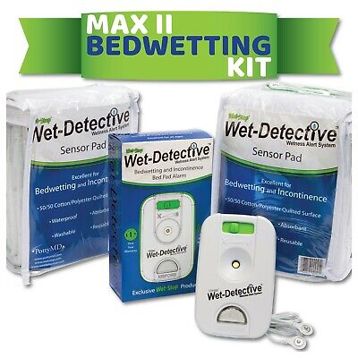 Wet Detective Bedwetting Kit, Bedwetting Alarm System, Includes 2 Sensor Pads