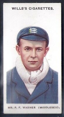 """Wills-Cricket Ers 1908 (Large """"S"""")-#02- Middlesex - Warner"""