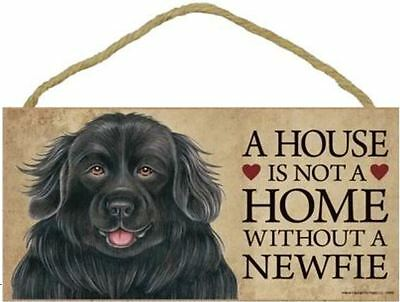 "House is Not a Home without a Newfoundland Sign Plaque Dog 10"" x 5"""