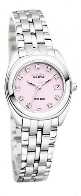 Citizen Pink Dial Stainless Steel Band Eco-Drive Women's Watch EW1590-56X