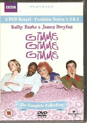 Gimme, Gimme, Gimme - The Complete Boxset: Series 1,2,3 (DVD, 2006, 3-Disc Set)