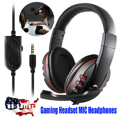 3.5mm Gaming Headset MIC Headphones Stereo for Laptop PS4 Xbox one Xboxone PC US