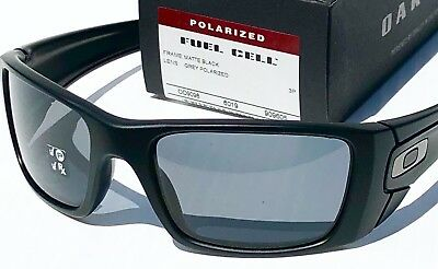 a2a94b6551 NEW  Oakley FUEL CELL Matte Black POLARIZED Grey Lens Sunglass oo9096-05