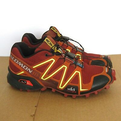 cbe239857ce7 Salomon Speedcross 3 Trail Running Racing Shoes Mens US 8 Red Hiking  Contagrip