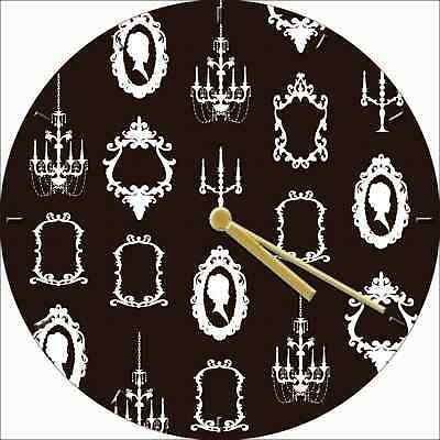 NOVELTY WALL CLOCK - Antique Silhouettes Victorian Design - Retro Wall Clock