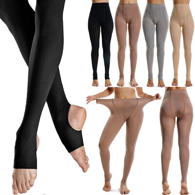 110-240 LBS Women's Opaque Tights Solid Pantyhose Footless Stockings Autumn 1PCS
