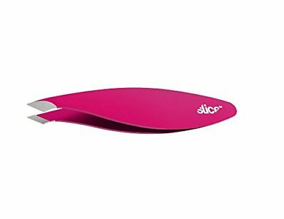 Slice 10463 Combo Tip Tweezer, Slanted & Pointed, Extra Wide Grip, For Fine Hair
