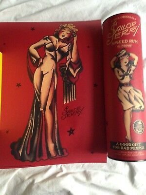 Sailor Jerry Spiced Rum 2015 Lady Liberty 11x15 Pin-Up Girl Poster Print + Tube