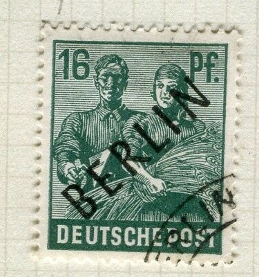 GERMANY; WEST BERLIN 1948 Optd.(Black) Pictorial issue fine used 16pf.
