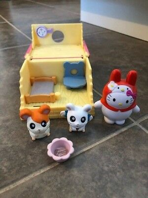 Hamtaro Ham Ham Play House Bed Room Hamster Figure Chair Epoch Toy