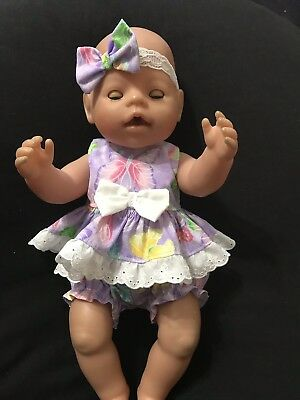 Dolls Clothes Made To Fit 42cm (med)Baby Born Doll.  2piece Set