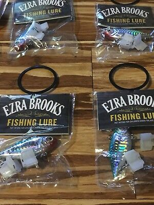 Ezra Brooks Fishing Lures Lot  - 6 BRAND NEW LURES -