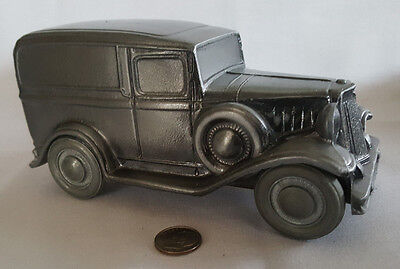 "Vintage Metal ""1934 FORD"" Panel Truck Coin Bank - Fantastic Condition!"