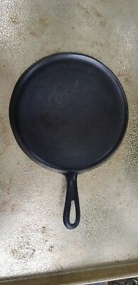 Birmingham Stove And Range #8 Cast Iron Round Griddle Cleaned and Seasoned