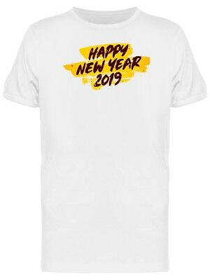 Yellow Brushed New Year Tee Men's -Image by Shutterstock