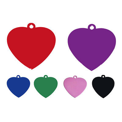 Heart-shaped Aluminum alloy Tags for Pets Dog Cat pink D5C5