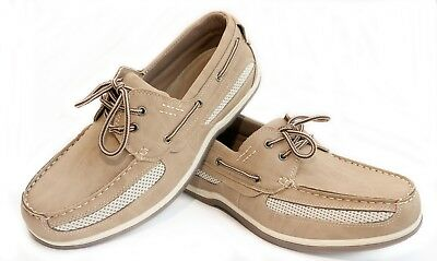 Wholesale Mens Boat Shoes by Case 12 Pack NEW Flexsoles Boater Lace-Up Air Mesh