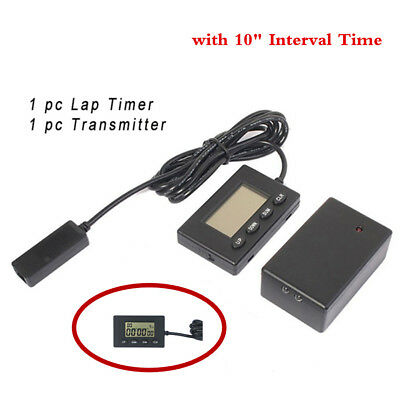 "V3 Plastic Lap Timer Infrared Ultrared Racing Track Day with 10"" Interval Time"