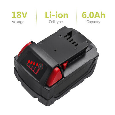 New One or Two Milwaukee 48-11-1820 M18 18-Volt Li-Ion 6.0 Ah Compact Battery TP