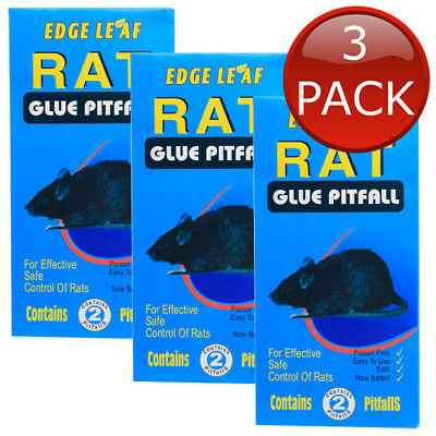 3 x RAT SNARE BAIT GLUE BOARD MOUSE MICE STICKY PAD RODENTS BUGS CONTROL 2 PCS