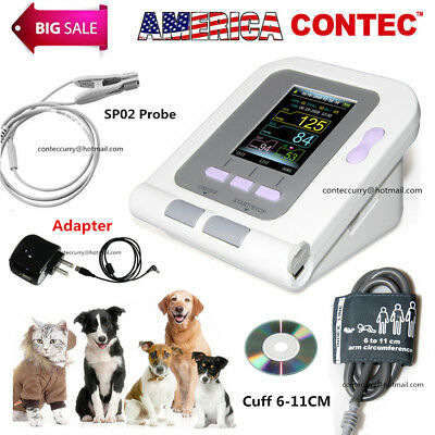 Digital Veterinary Blood Pressure Monitor CONTEC08A,VET NIBP+SPO2 Probe ,Adapter