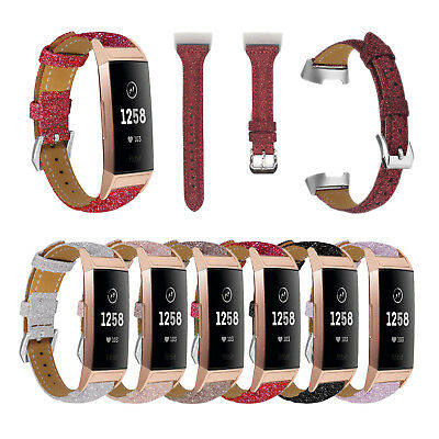 Leather Replacement Band Strap Bracelet Wristband for Fitbit Charge 3 Watch Band
