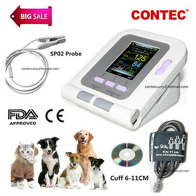 CONTEC08A-VET Digital Veterinary Blood Pressure Monitor Cuff+ Probe Pets/Dog/Cat