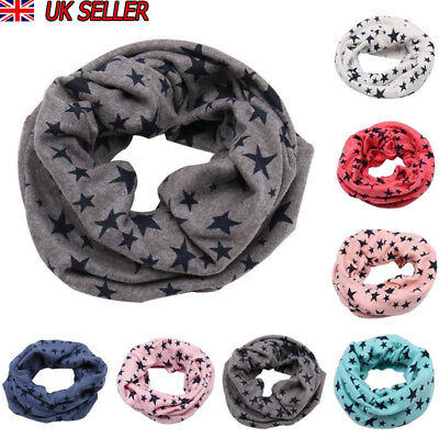 Kid Boy Girl Multi Function Soft Cotton Neck Warmer Scarf Hat Baby Snood Scarves