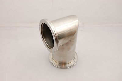 "Stainless Steel 90 Deg Sanitary Union, 8 x 5-1/4"", 4"" ID, 5-1/8"" Fittings"