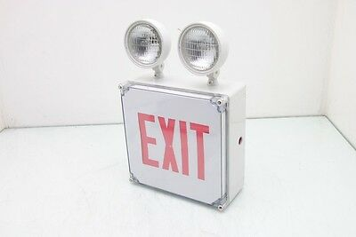 Emergency Lighting Power PAC0226R Exit Sign emergency Light Combo Tested