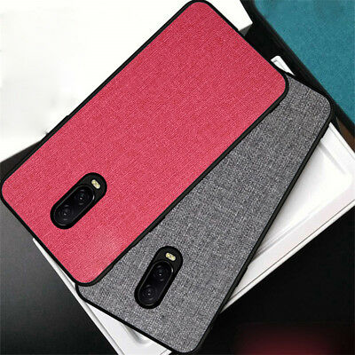 For OnePlus 6 6T Luxury Slim Fabric Hybrid Soft TPU Back Case Shockproof Cover