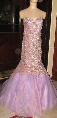 Vintage Sherri Hill Sequin Ball Gown Size 8 Good Condition