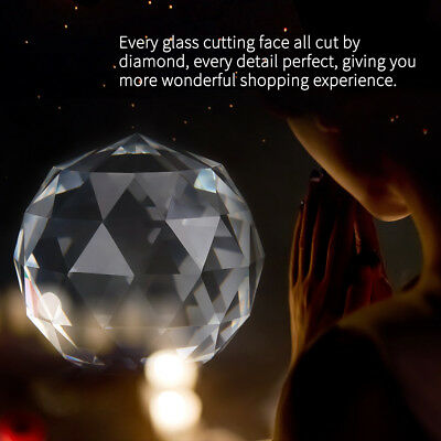 Cut Crystal Sphere 60/80mm Faceted Gazing Glass Ball Clear Prisms Hotel Decor