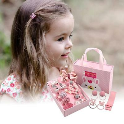 18Pcs/Box Baby Girls Gift Hair Accessories - Hair Tie Bows Bowknot Hairpin Set