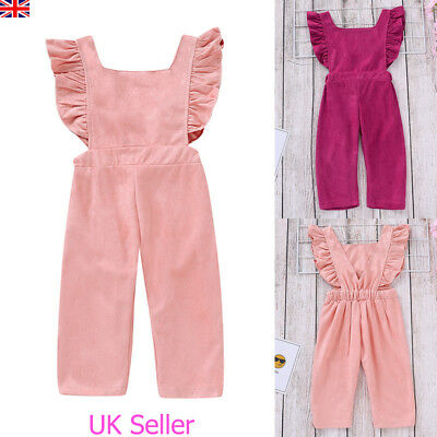 2bb11ac9d174 Toddler Kids Baby Girls Frill Romper Bodysuit Jumpsuit Playsuit Clothes  Outfits