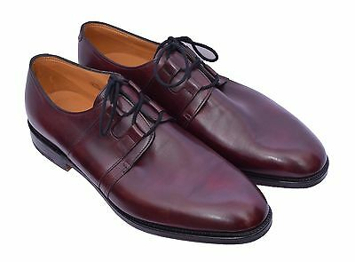 John Lobb Men's Aire Claret Misty Calf Shoes Size 8.5